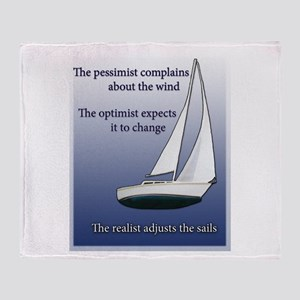 Adjust the sails Throw Blanket